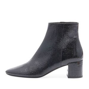 NIB Saint Laurent LouLou Cracked Patent Booties